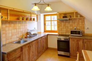Kuchnia lub aneks kuchenny w obiekcie Apartament w Muzeum Michała Kajki