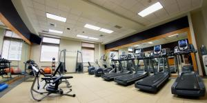 The fitness center and/or fitness facilities at Hilton Harrisburg near Hershey Park