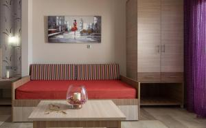A seating area at Anthemida Rooms
