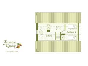 Grundriss der Unterkunft Ferienhaus Kastanie