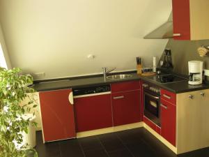 Küche/Küchenzeile in der Unterkunft Ferienhaus Wind