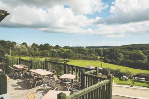 A porch or other outdoor area at County Arms
