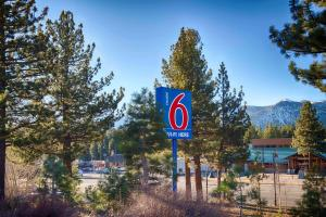 A certificate, award, sign, or other document on display at Motel 6-Mammoth Lakes, CA