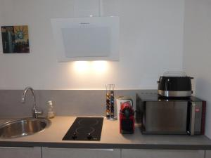 A kitchen or kitchenette at Agen Loft Zen