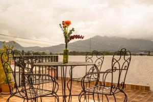 A balcony or terrace at Hotel Posada Dominnycos