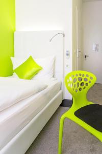 Cama o camas de una habitación en Hotel City Inn Basel