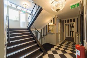 Lobbyn eller receptionsområdet på Hotell Stensborg