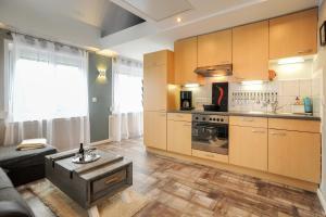Küche/Küchenzeile in der Unterkunft Ferienhaus Reuter