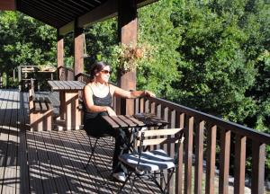 A balcony or terrace at Eco Camping Juncal