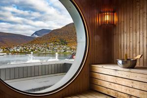 A balcony or terrace at Radisson Blu Hotel Tromsø
