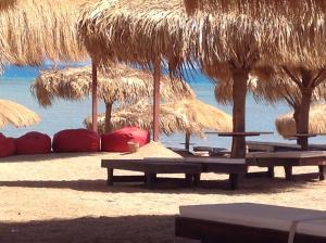 Caves Beach Resort tesisinde veranda veya açık alan