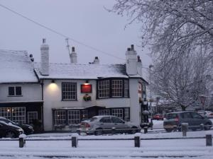 The Red Lion Hotel during the winter