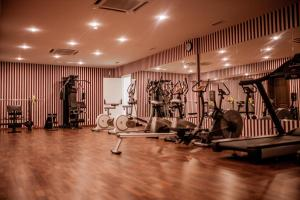 The fitness center and/or fitness facilities at Ramada by Wyndham Almaty