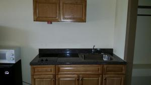 A kitchen or kitchenette at Americourt Extended Stays