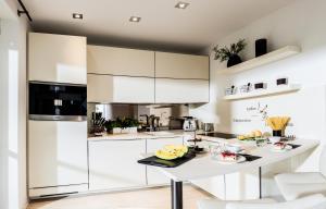Küche/Küchenzeile in der Unterkunft Ferienwohnung Schmetterling