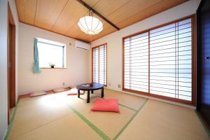 A seating area at COTO Tokyo Shibuya
