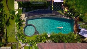 A view of the pool at Masia Villa Ubud or nearby