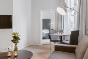 Poilsio erdvė arba baras apgyvendinimo įstaigoje Forenom Serviced Apartments Oslo Vika