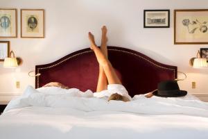Un ou plusieurs lits dans un hébergement de l'établissement La Chambre du Marais