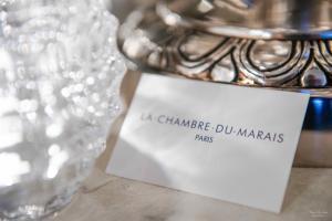 Certificat, récompense, panneau ou autre document affiché dans l'établissement La Chambre du Marais