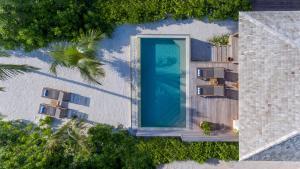 A bird's-eye view of Hurawalhi Island Resort