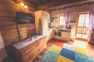 Küche/Küchenzeile in der Unterkunft Ferienhaus Ottlgut
