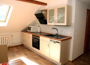 Küche/Küchenzeile in der Unterkunft Ferienwohnung Scarlett