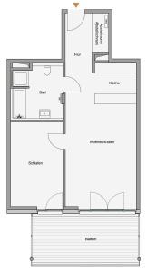 Grundriss der Unterkunft Südkap G-06