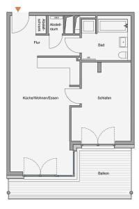 The floor plan of Südkap B-08