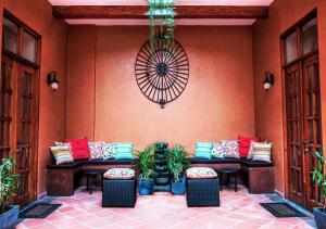 The lobby or reception area at La Isabela Suites