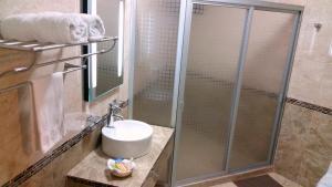 A bathroom at Hotel Villa Bernal