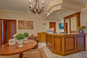 The lobby or reception area at Alkyonis Hotel