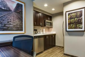 A kitchen or kitchenette at Homewood Suites Savannah Historic District/Riverfront
