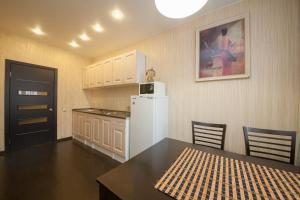 A kitchen or kitchenette at Apartment Alekseeva 45