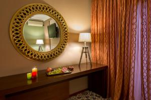 Ванная комната в Hotel Alexandros
