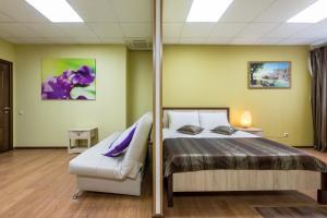 Кровать или кровати в номере Апартаменты на 8 небе