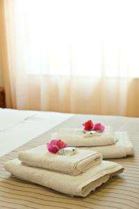 Ένα ή περισσότερα κρεβάτια σε δωμάτιο στο Pension Erofili