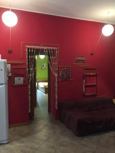 The lobby or reception area at B&B Manu