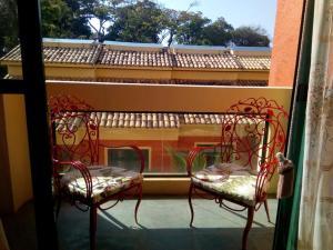Uma varanda ou terraço em Apartamento Terracota Beira Mar