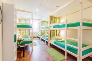 A bunk bed or bunk beds in a room at Nice Hostel Samara