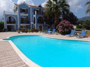 The swimming pool at or near Nikos Studios and Apartments