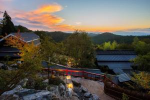 The sunrise or sunset as seen from the ryokan or nearby
