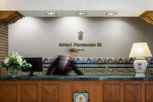 The lobby or reception area at Hotel Fernando III