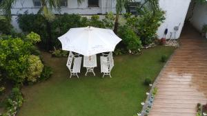 A patio or other outdoor area at Club Boracay Apartelle