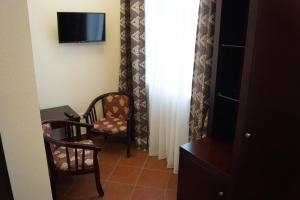 Гостиная зона в Hotel Kurilotransavto