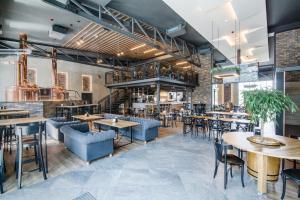 Restauracja lub miejsce do jedzenia w obiekcie Hotel Browar Wiatr