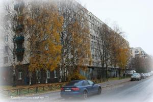 Apartments at Kondratyevskiy 75 block 2 зимой