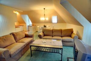 Ein Sitzbereich in der Unterkunft Appartements Residenz Jacobs