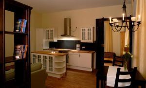 Küche/Küchenzeile in der Unterkunft Appartements Residenz Jacobs