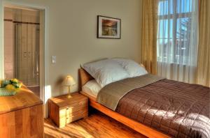 Ein Bett oder Betten in einem Zimmer der Unterkunft Appartements Residenz Jacobs
